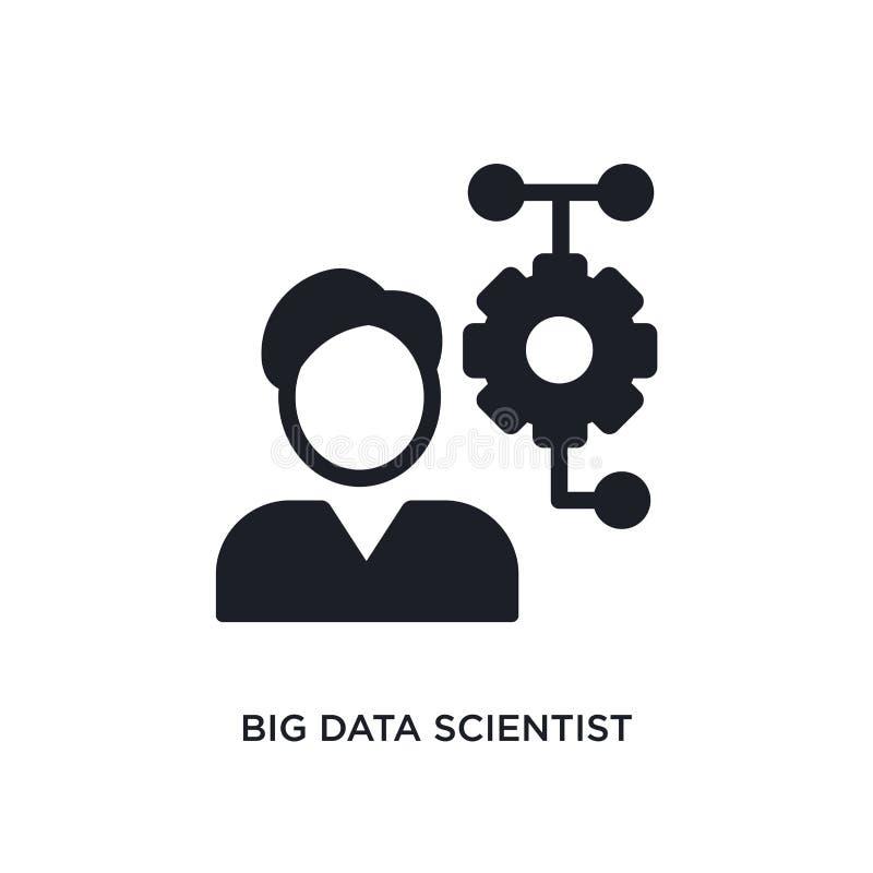 stor isolerad symbol för data forskare enkel beståndsdelillustration från symboler för begrepp general-1 tecken för logo för stor royaltyfri illustrationer