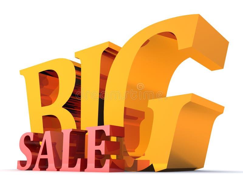stor jätte- guld- symbolsförsäljning stock illustrationer