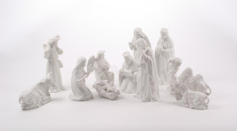 stor julkrubba arkivbild