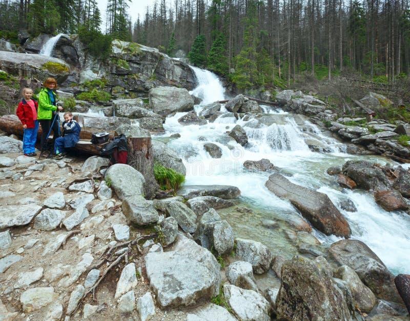 Stor kall dalsommarsikt (höga Tatras, Slovakien) royaltyfria bilder