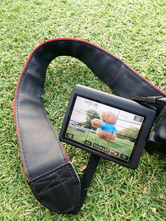 Stor kamera för LCD-skärmbildskärm arkivfoto