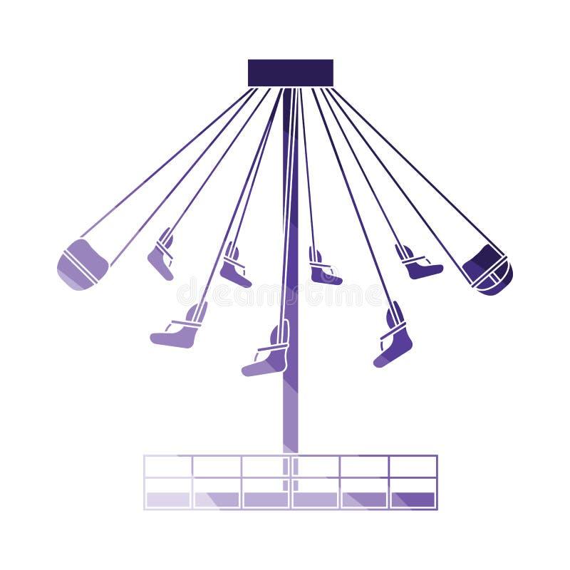 Stor karusellsymbol stock illustrationer