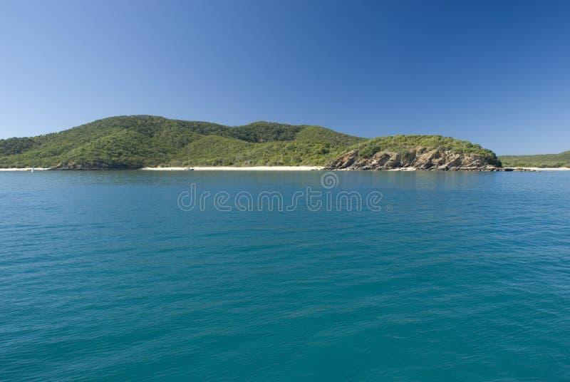 Stor Keppel ö, Queensland, Australien arkivbild