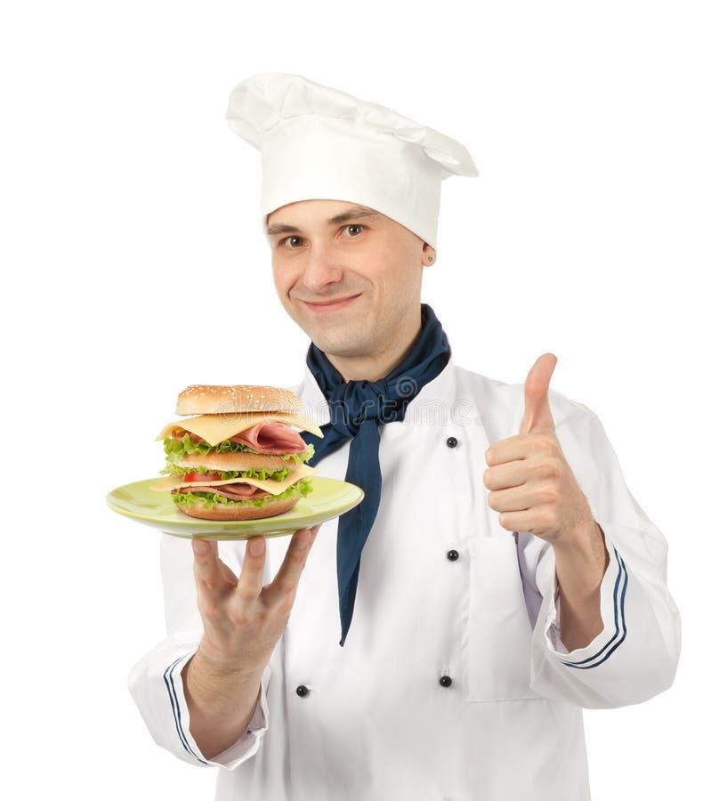stor kocksmörgås arkivfoto