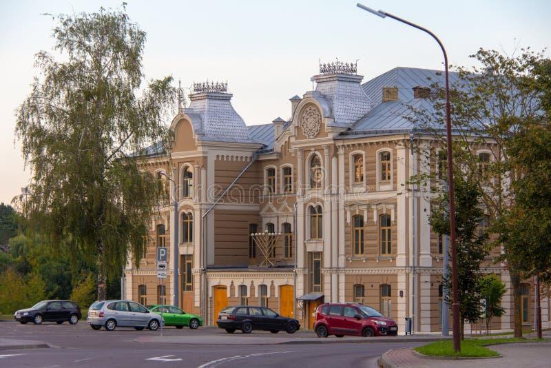 Stor kor- synagoga Grodno arkivbilder