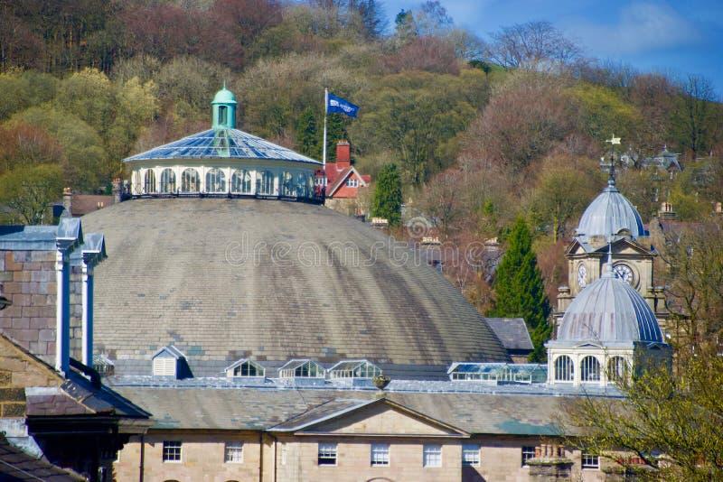 Stor kupol och det Buxton landskapet royaltyfri fotografi