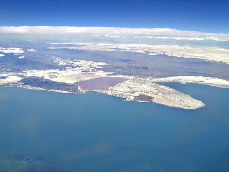 stor lake salt utah arkivfoton