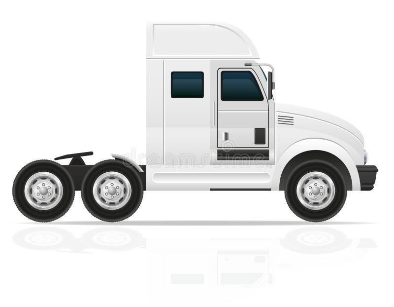 Stor lastbiltraktor för illustration för trans.lastvektor royaltyfri illustrationer