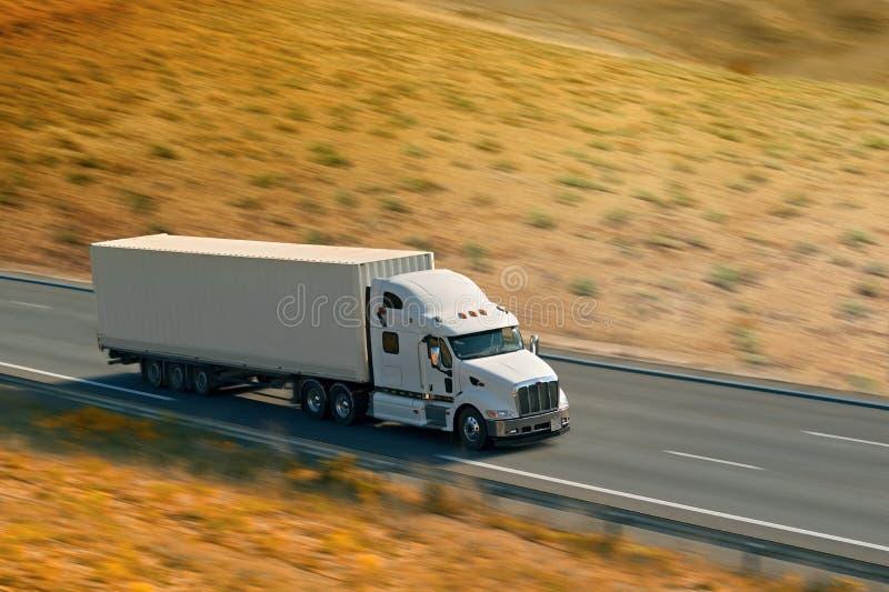 stor lastbilwhite royaltyfri foto
