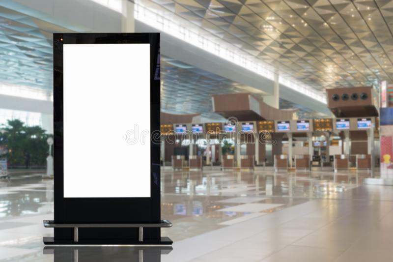 Stor LCD-annonsering f?r bakgrund royaltyfria foton