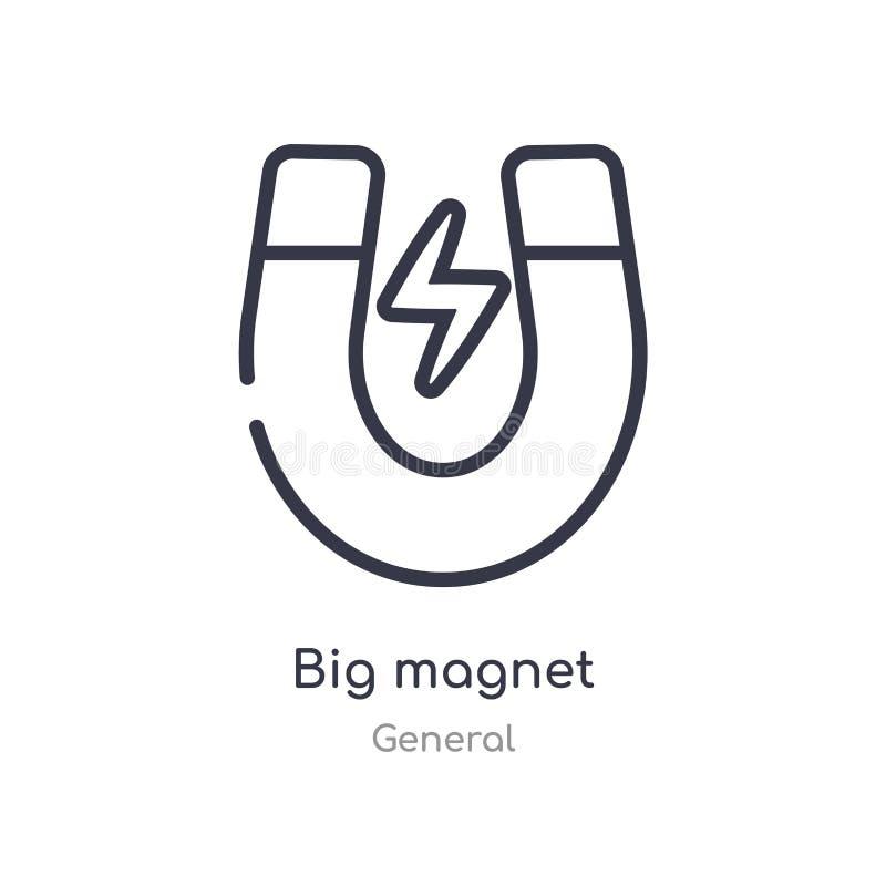 stor magnetöversiktssymbol isolerad linje vektorillustration fr?n allm?n samling stor magnetsymbol för redigerbar tunn slaglängd  stock illustrationer
