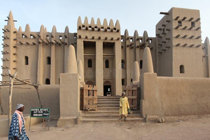 stor mali för djenne moské arkivbilder