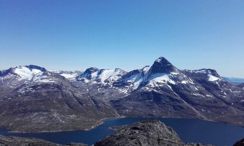 Stor Maline Nuuk Mountains Greenland royalty-vrije stock afbeelding