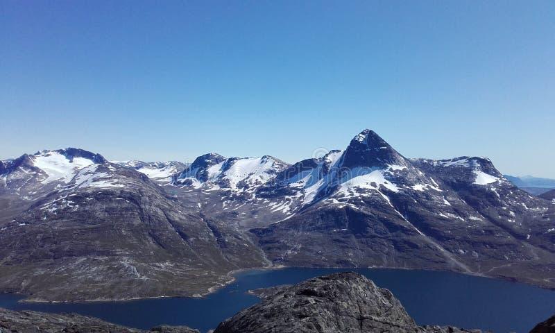 Stor Maline Nuuk Mountains Greenland royalty free stock image