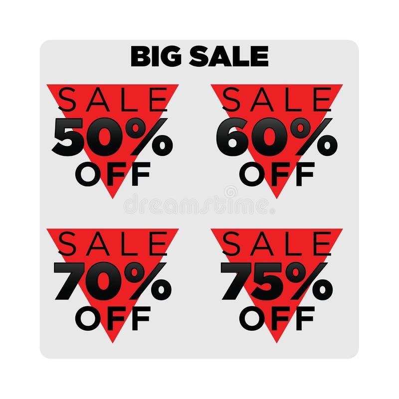 Stor mall för försäljningsetikettsmode royaltyfri illustrationer