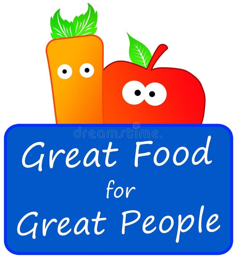 stor mat stock illustrationer