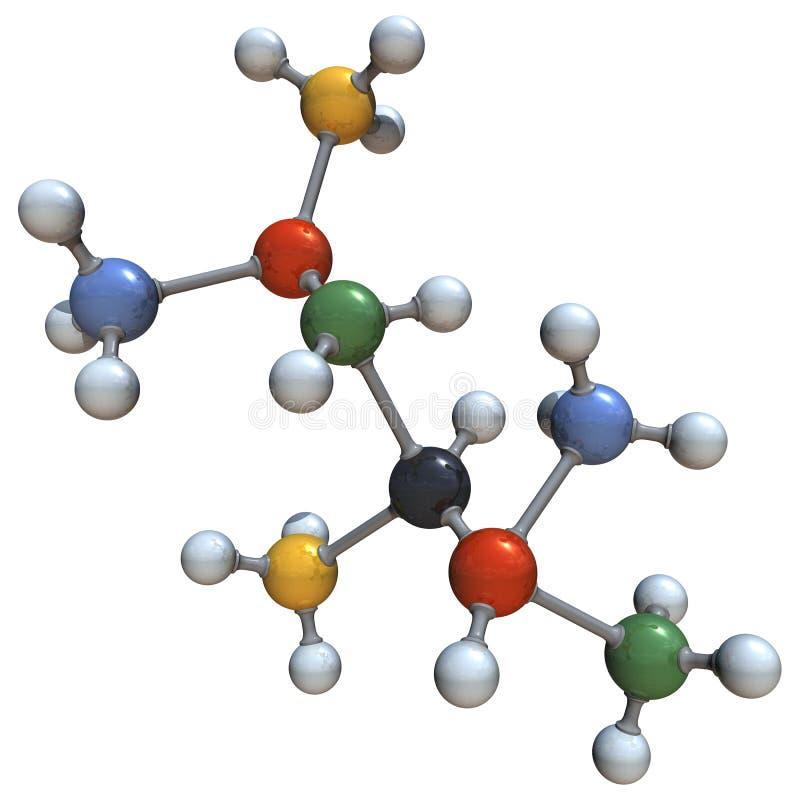 stor molekyl stock illustrationer