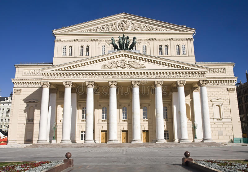 stor moscow russia teater arkivbild