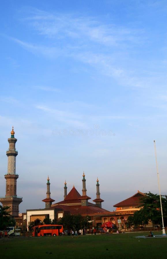 Stor moské av Cirebon royaltyfria foton