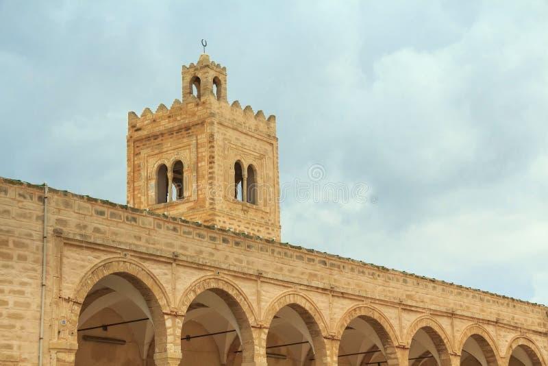 Stor moské av Monastir royaltyfri fotografi