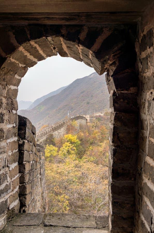 stor mutianyuvägg för porslin arkivbilder