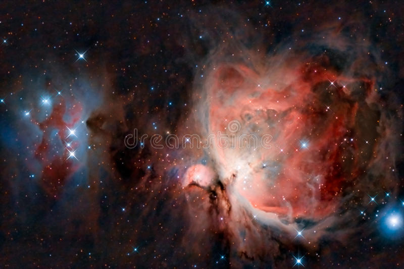 stor nebula orion stock illustrationer