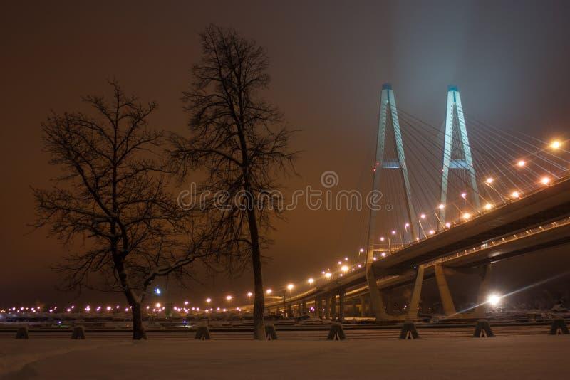 Stor Obukhov bro royaltyfri fotografi