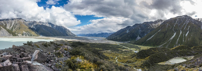 Stor panorama av dalen royaltyfria bilder