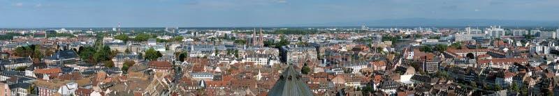 Stor panorama av Strasbourg, Frankrike royaltyfria foton