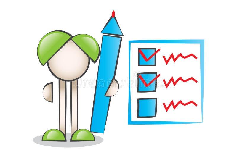 Stor penn- och kontrolllista royaltyfri illustrationer