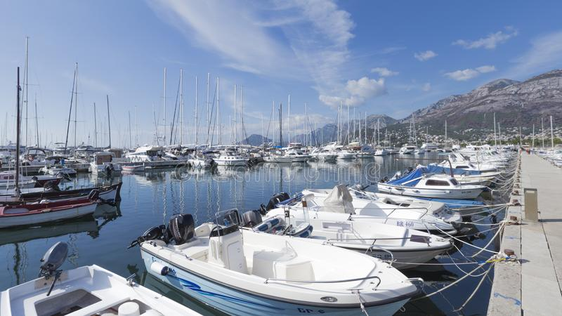 Stor port i stång i Montenegro royaltyfri fotografi