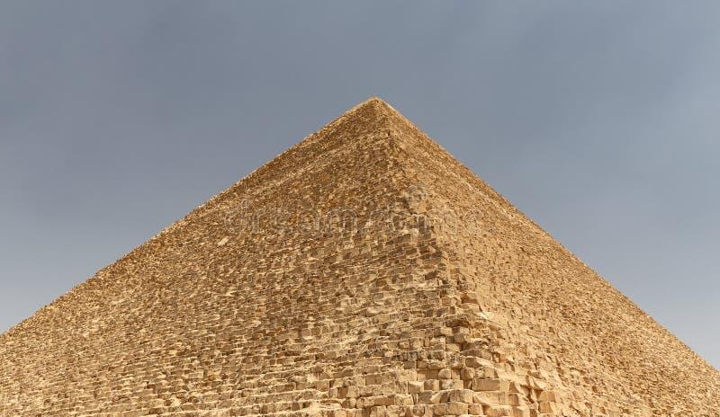 Stor pyramid av Giza i det Giza pyramidkomplexet, Kairo, Egypten arkivfoto