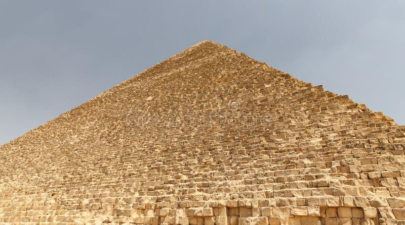 Stor pyramid av Giza i det Giza pyramidkomplexet, Kairo, Egypten royaltyfria foton