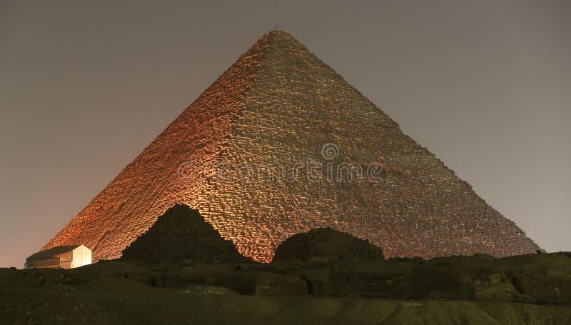 Stor pyramid av Giza i Kairo, Egypten royaltyfri fotografi