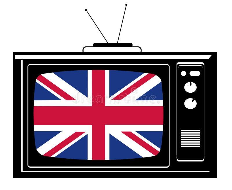 stor retro tv för brflagga royaltyfri illustrationer
