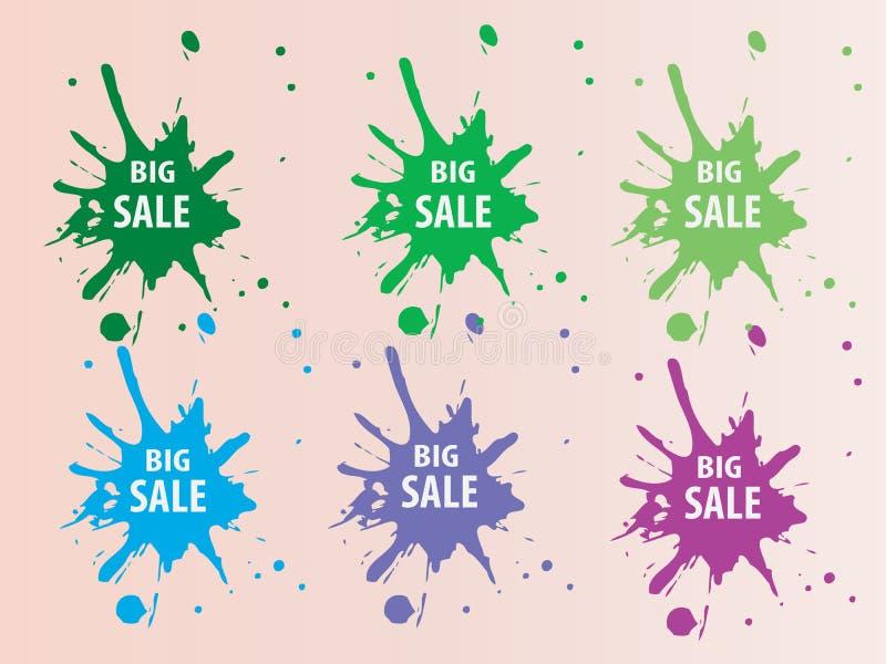 Stor Sale färgstänk Backround
