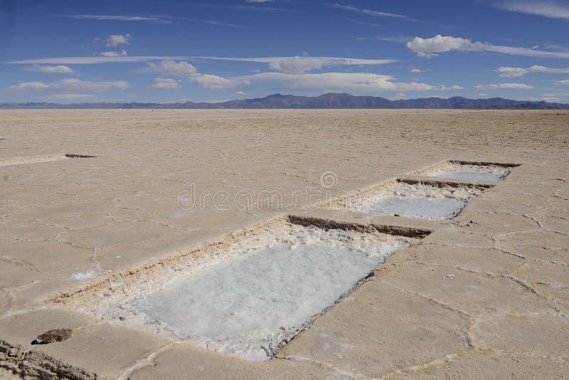 Stor Saltworks, Argentina royaltyfri fotografi