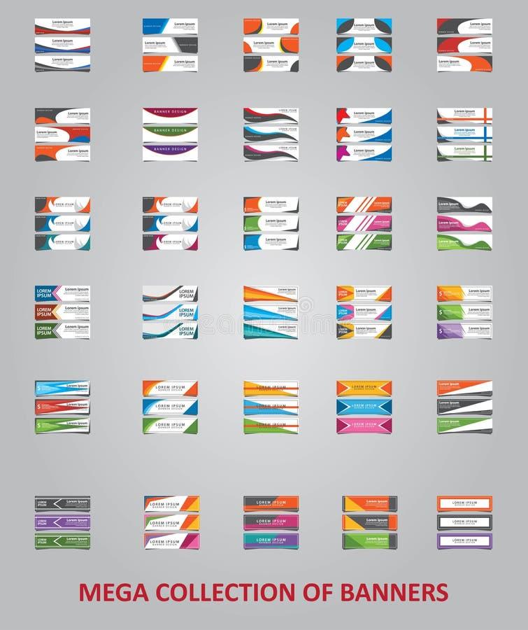 Stor samling av för broschyrvektor för 25 affär designen, modern orienteringsmallpresentation royaltyfri illustrationer