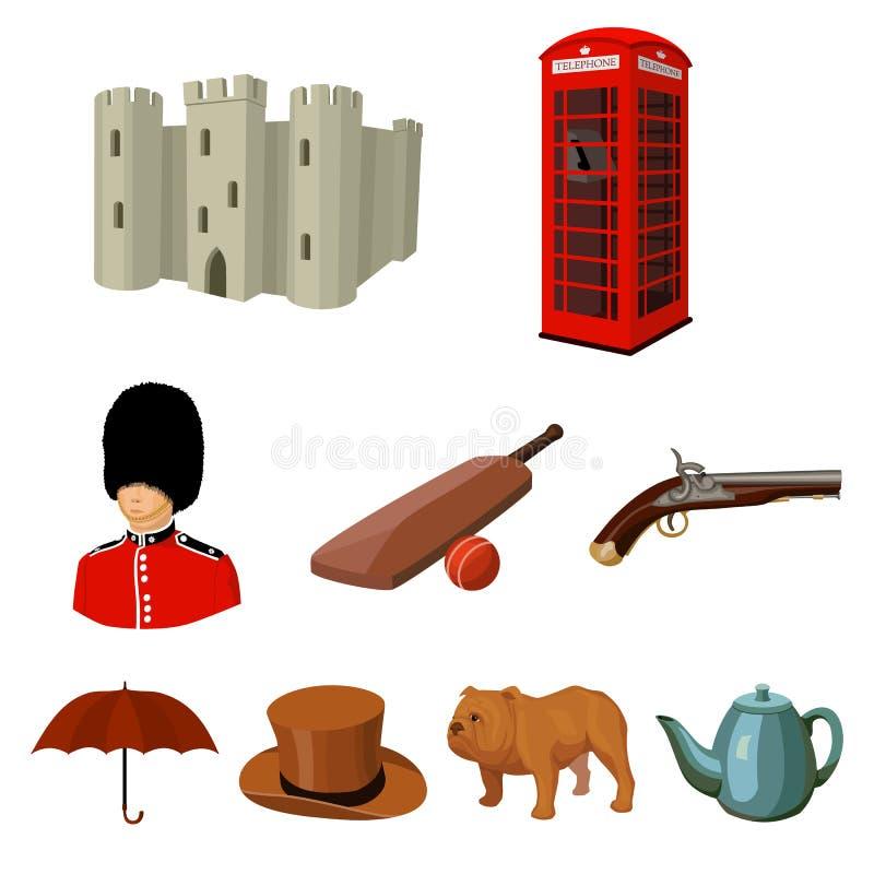 Stor samling av illustrationen för materiel för symbol för England landsvektor vektor illustrationer