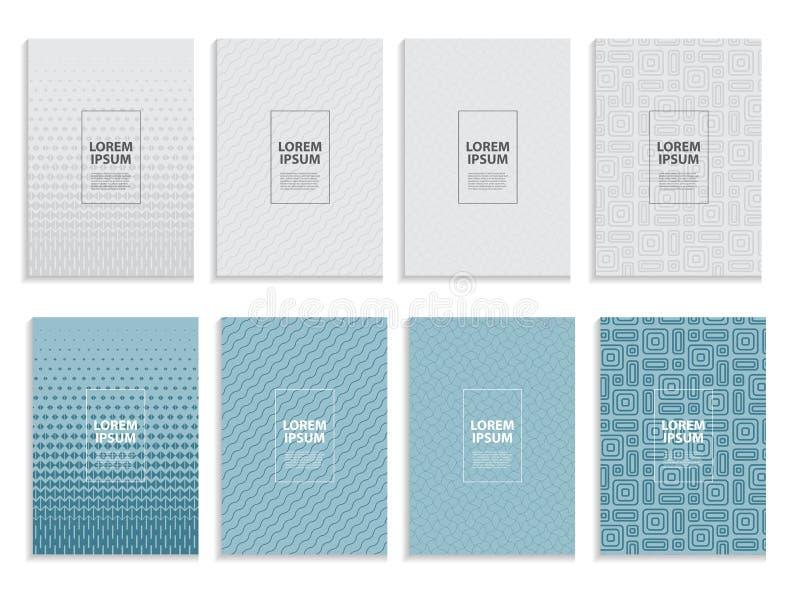 Stor samlingsuppsättning av den enkla minsta designen för räkningsaffärsmall Framtida geometrisk modell också vektor för coreldra stock illustrationer