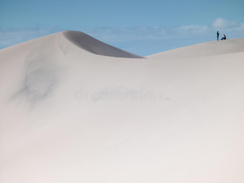 Stor sanddyn  arkivbild