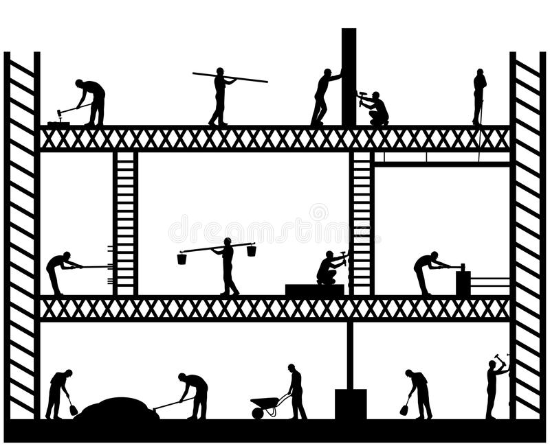 Stor Scaffold stock illustrationer