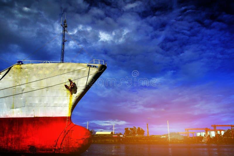 stor ship för last arkivfoto