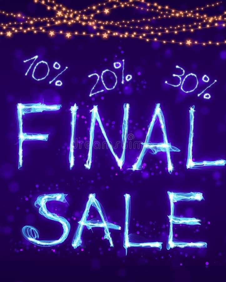 Stor sista försäljning, special varm försäljningserbjudandebakgrund royaltyfri illustrationer
