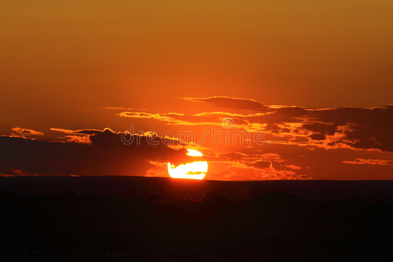 stor solnedgång royaltyfria foton
