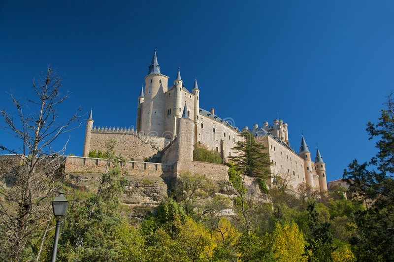 Stor spansk fästning royaltyfria foton