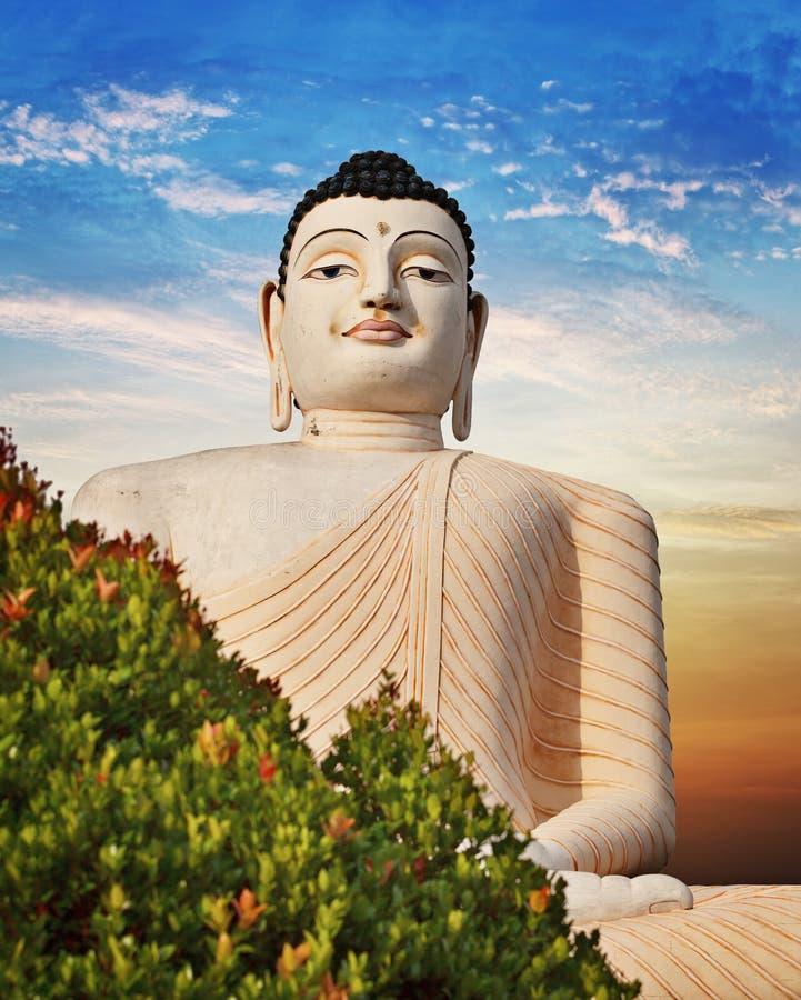Stor staty av Buddha i Bentota, Sri Lanka arkivbilder