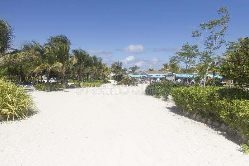 Stor stigbygel Cay Pathway royaltyfri fotografi