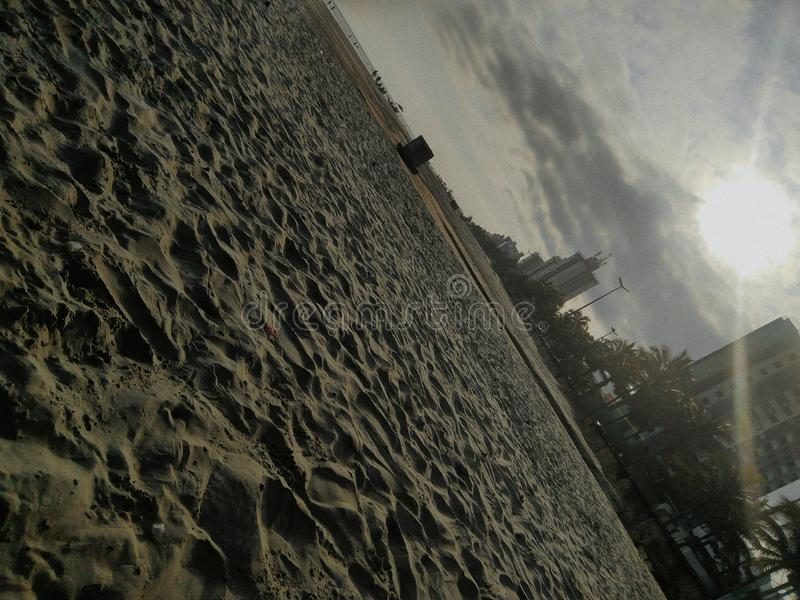 Stor strandsand för Praia royaltyfri bild