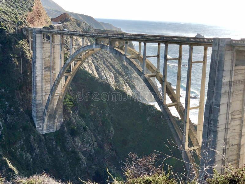 Stor Sur Kalifornien för Bixby bro västkusten USA arkivfoto